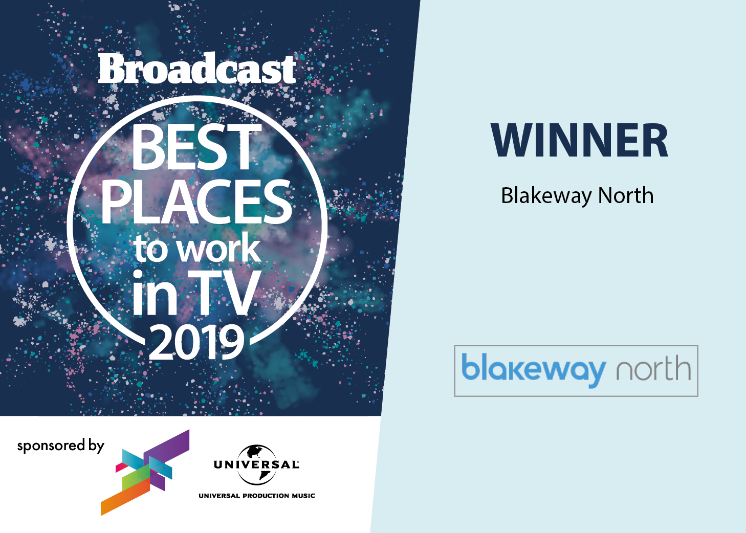 "Blakeway North one of ""Best Places To Work In TV"""